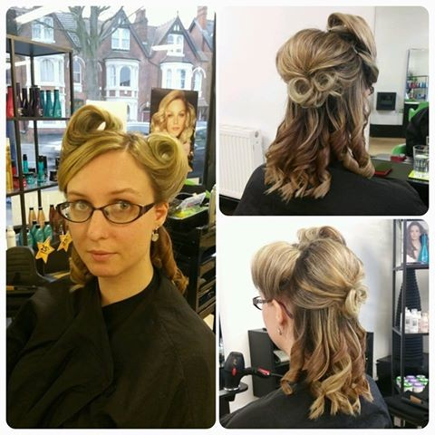 Victory Roll Hair Up