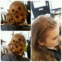 French Plait With Barrel Curls