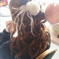 Curly Hair With Flower