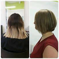 Refreshed grown out highlights and restyled to bob