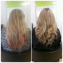 Highlights and curly blowdry