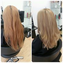 Lightened to clean blonde