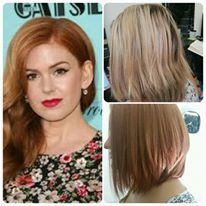 We re-created Isla Fisher's copper and restyled into bob
