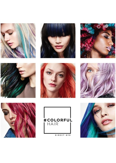 colourful hair